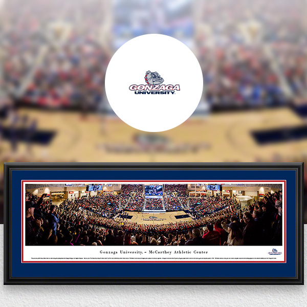 Gonzaga Bulldogs Panoramic Posters and Fan Cave Decor