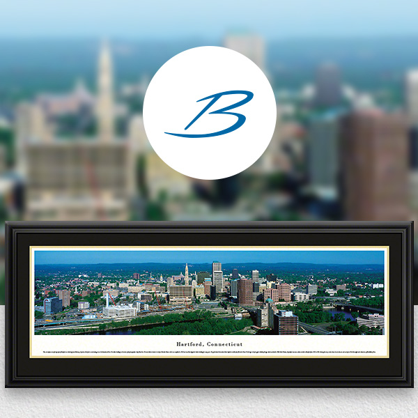Hartford, CT City Skyline Panoramic Wall Art