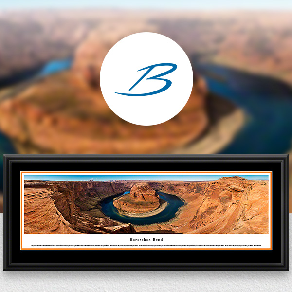 Horseshoe Bend Scenic Landscape Panoramic Wall Art