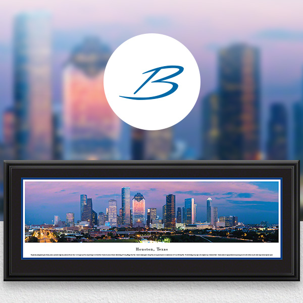 Houston, TX City Skyline Panoramic Wall Art
