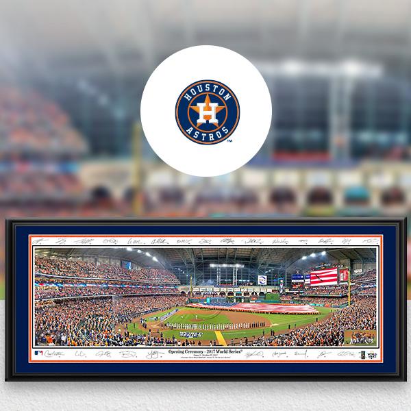 Houston Astros MLB Baseball Framed Panoramic Fan Cave Decor