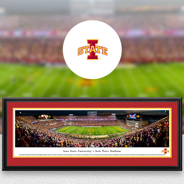 Iowa State Cyclones Panoramic Posters and Fan Cave Decor