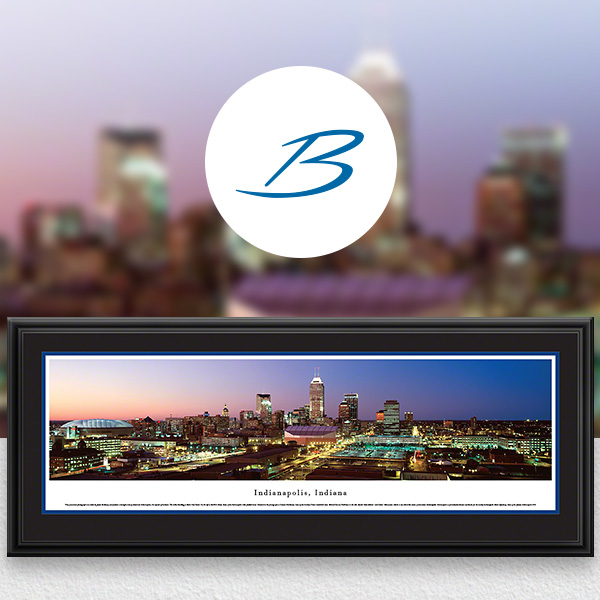 Indianapolis, IN City Skyline Panoramic Wall Art