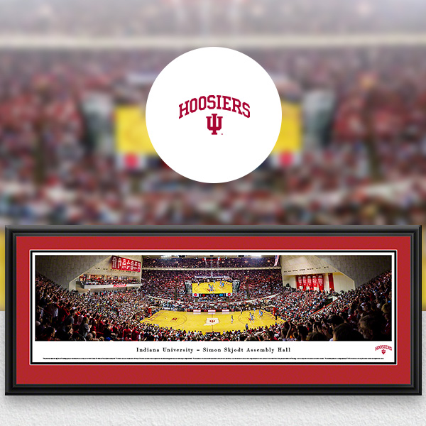 Indiana Hoosiers Panoramic Posters and Fan Cave Decor
