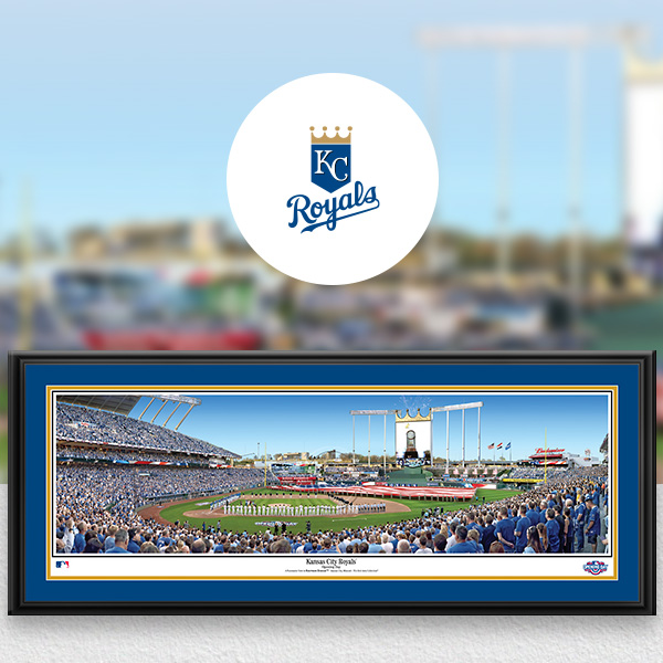 Kansas City Royals MLB Baseball Framed Panoramic Fan Cave Decor