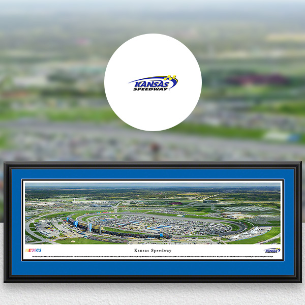 Kansas Speedway NASCAR Panoramic Posters and Fan Cave Decor