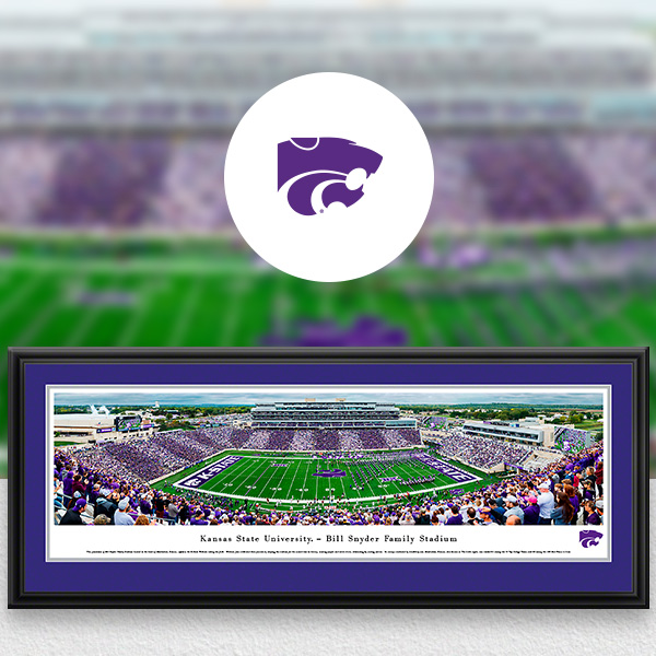 K-State Wildcats Panoramic Posters and Fan Cave Decor