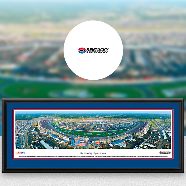 Kentucky Speedway NASCAR Panoramic Posters and Fan Cave Decor