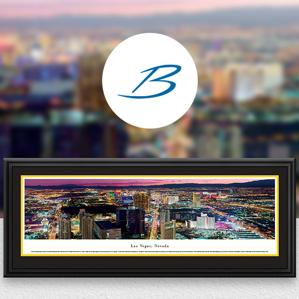 Las Vegas, NV City Skyline Panoramic Wall Art