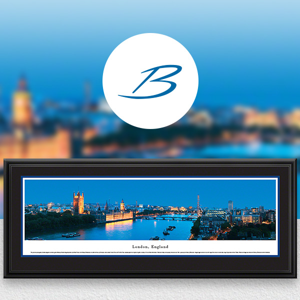 London, England City Skyline Panoramic Wall Art