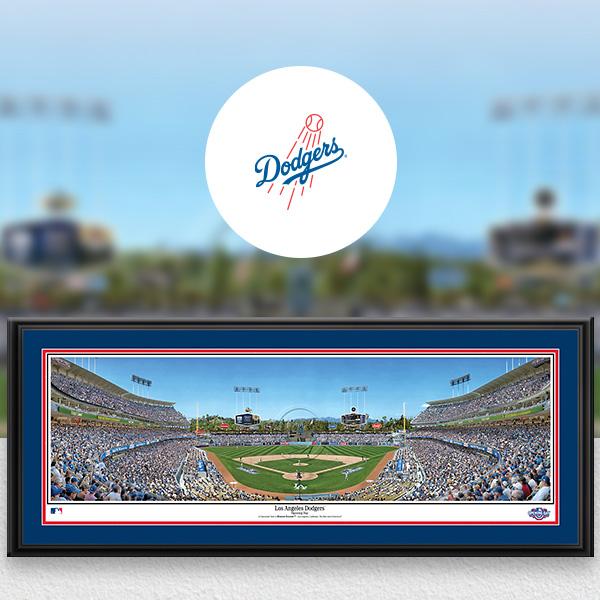 Los Angeles Dodgers MLB Baseball Framed Panoramic Fan Cave Decor