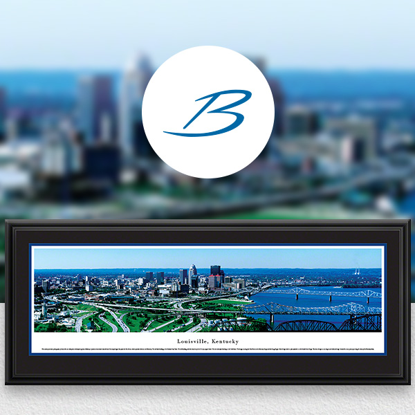 Louisville, KY City Skyline Panoramic Wall Art