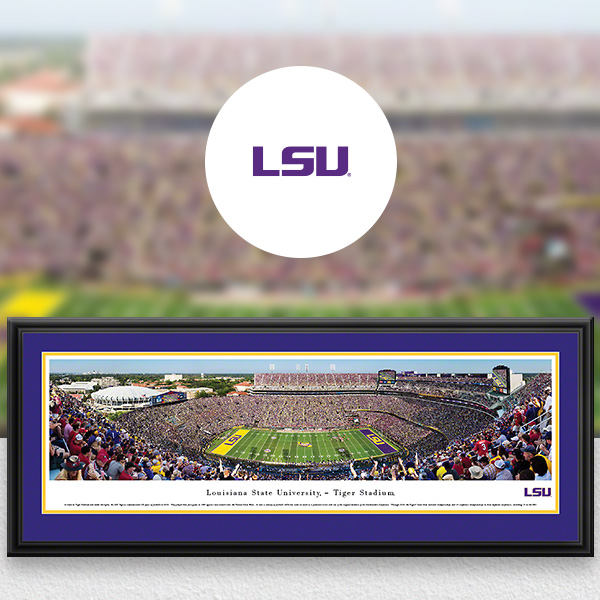 LSU Tigers Panoramic Posters and Fan Cave Decor