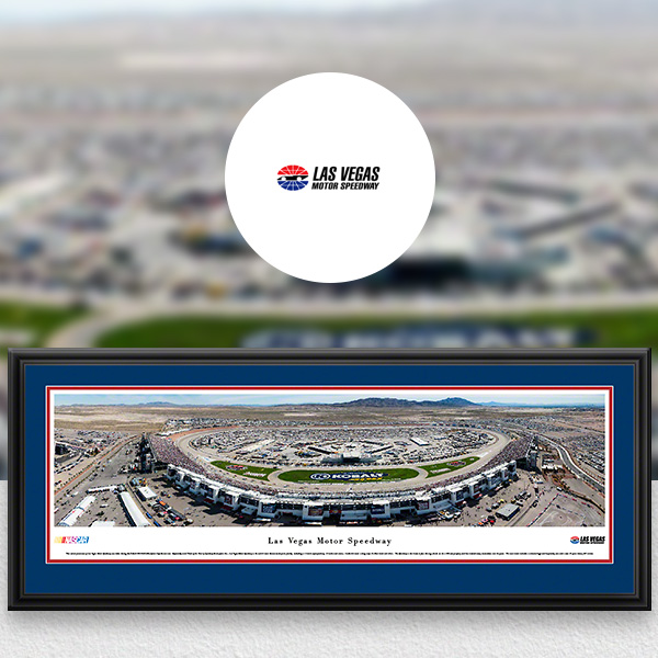 Las Vegas Motor Speedway NASCAR Panoramic Posters and Fan Cave Decor