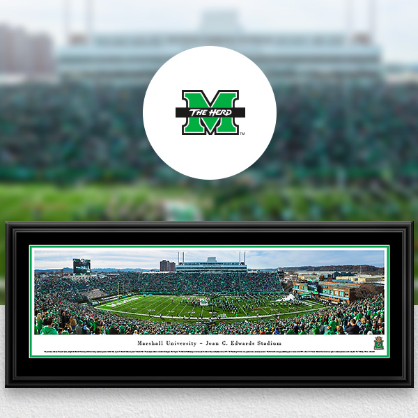 Marshall Thundering Herd Panoramic Posters and Fan Cave Decor