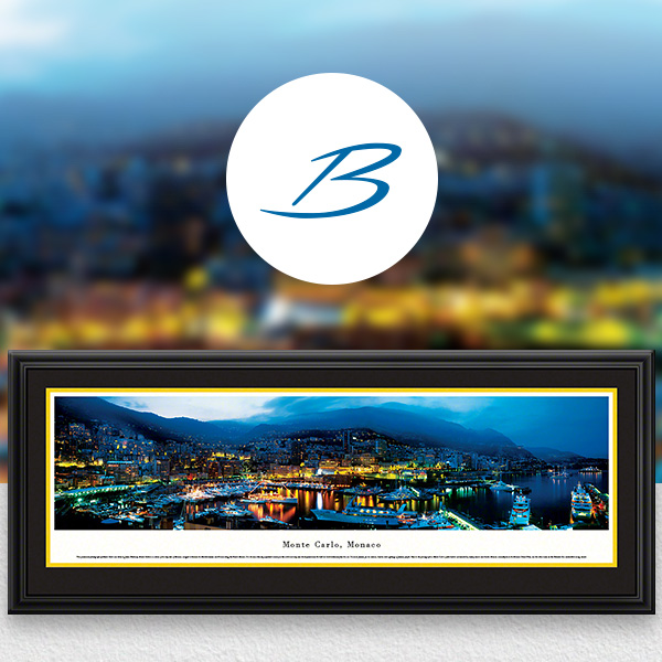 Monte Carlo, Monaco City Skyline Panoramic Wall Art