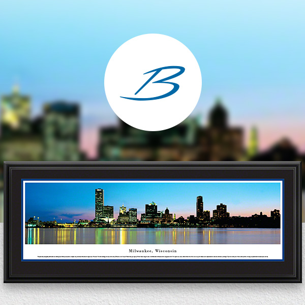 Milwaukee, WI City Skyline Panoramic Wall Art