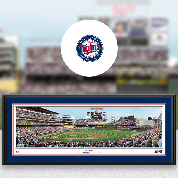Minnesota Twins MLB Baseball Framed Panoramic Fan Cave Decor