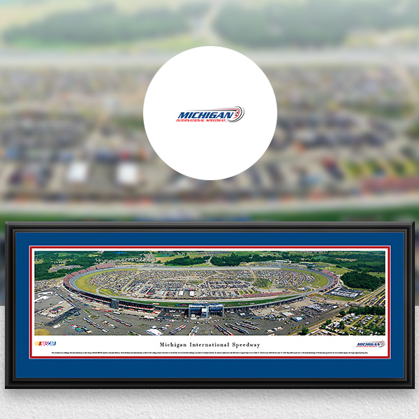 Michigan International Speedway NASCAR Panoramic Posters and Fan Cave Decor