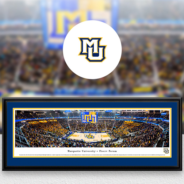 Marquette Golden Eagles Panoramic Posters and Fan Cave Decor
