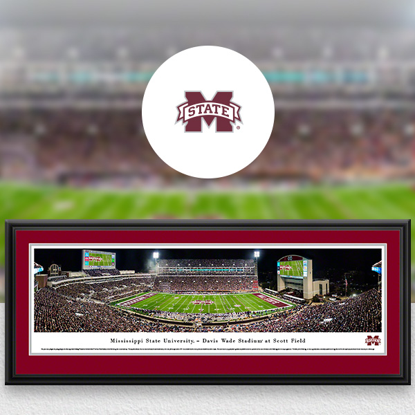 Mississippi State Bulldogs Panoramic Posters and Fan Cave Decor