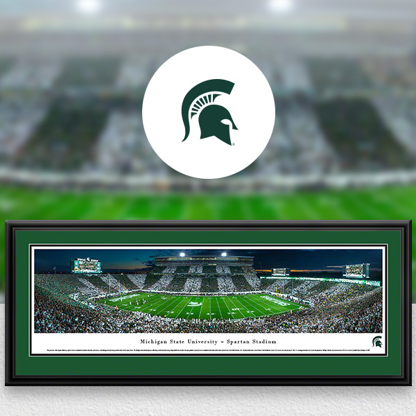 Michigan State Spartans Panoramic Posters and Fan Cave Decor