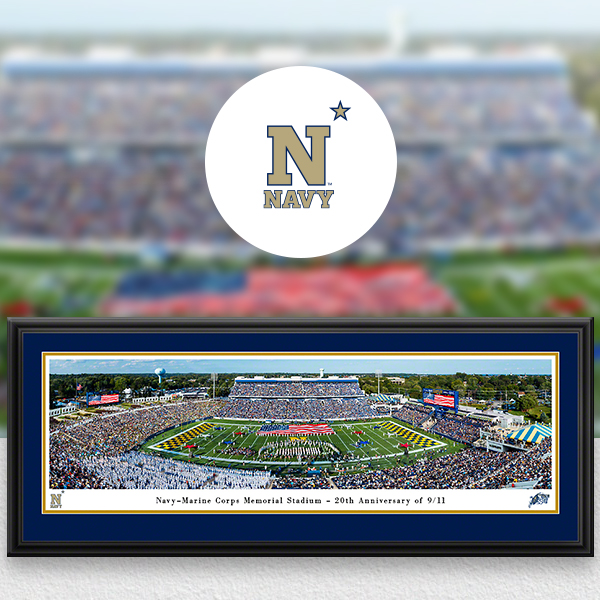 Navy Midshipmen Panoramic Posters and Fan Cave Decor