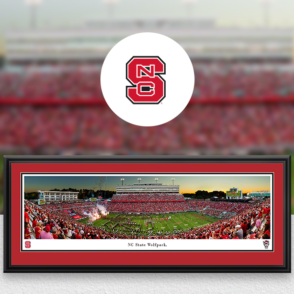 NC State Wolfpack Panoramic Posters and Fan Cave Decor