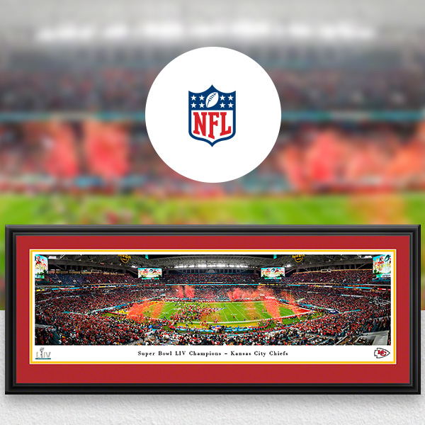 NFL Panoramic Posters and Fan Cave Decor