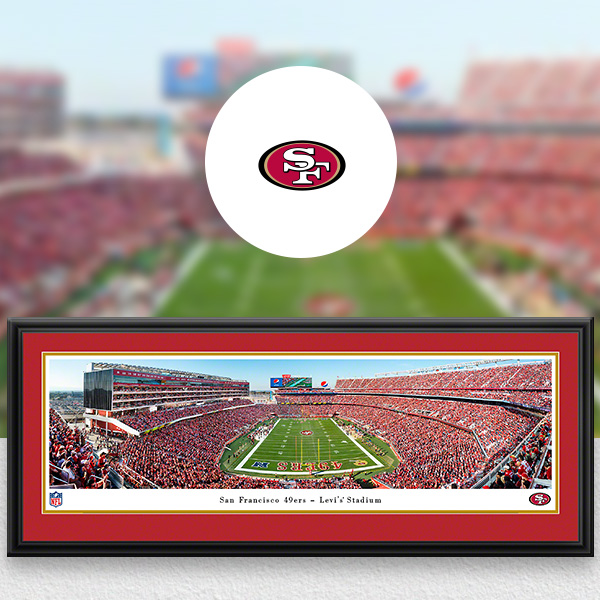San Francisco 49ers Panoramic Posters and Fan Cave Decor