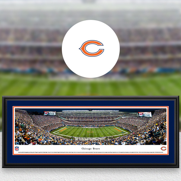 Chicago Bears Panoramic Posters and Fan Cave Decor