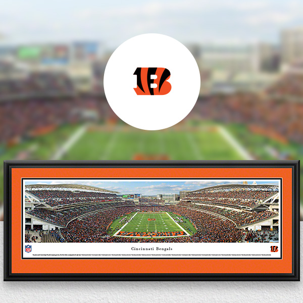 Cincinnati Bengals Panoramic Posters and Fan Cave Decor