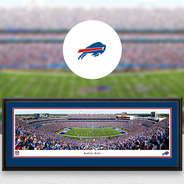 Buffalo Bills Panoramic Posters and Fan Cave Decor