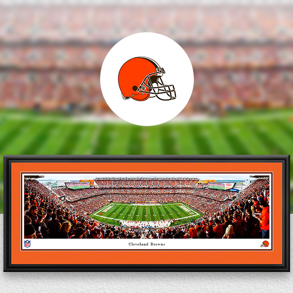 Cleveland Browns Panoramic Posters and Fan Cave Decor
