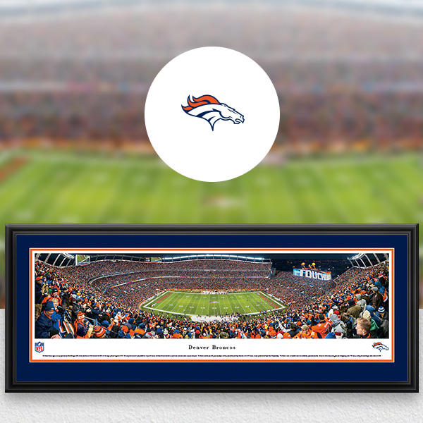 Denver Broncos Panoramic Posters and Fan Cave Decor