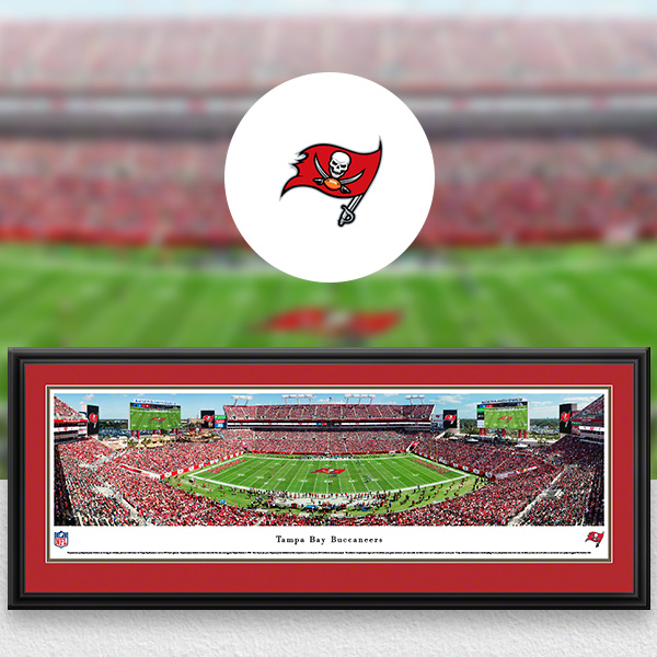 Tampa Bay Buccaneers Panoramic Posters and Fan Cave Decor