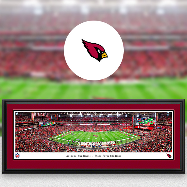 Arizona Cardinals Panoramic Posters and Fan Cave Decor