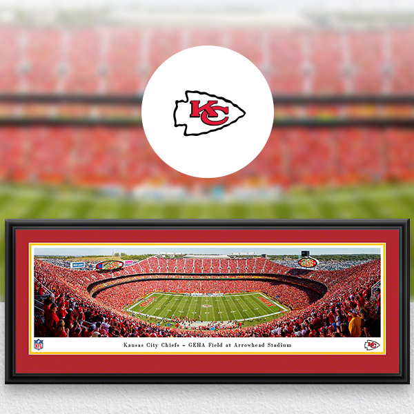 Kansas City Chiefs Panoramic Posters and Fan Cave Decor