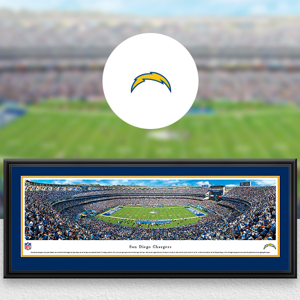 San Diego Chargers Panoramic Posters and Fan Cave Decor