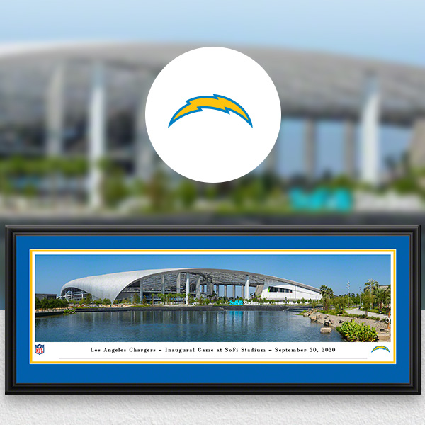 Los Angeles Chargers Panoramic Posters and Fan Cave Decor