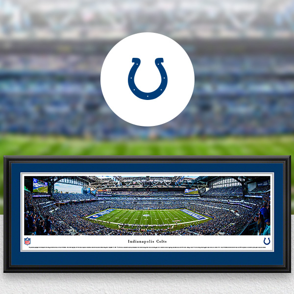 Indianapolis Colts Panoramic Posters and Fan Cave Decor