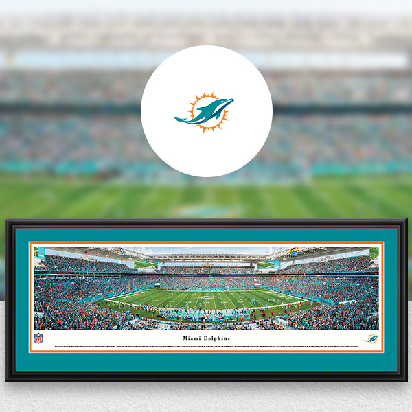 Miami Dolphins Panoramic Posters and Fan Cave Decor