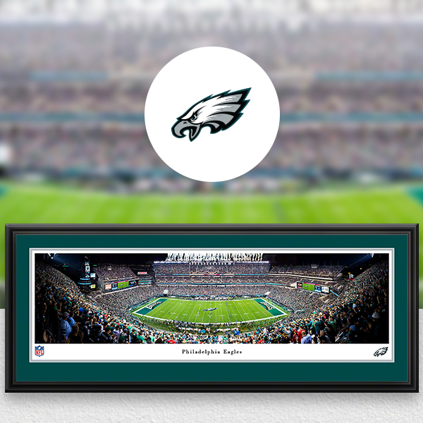 Philadelphia Eagles Panoramic Posters and Fan Cave Decor