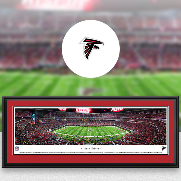 Atlanta Falcons Panoramic Posters and Fan Cave Decor