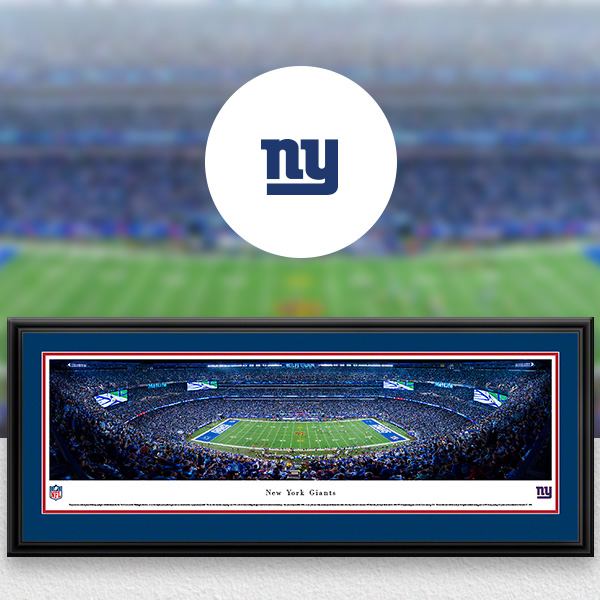 New York Giants Panoramic Posters and Fan Cave Decor
