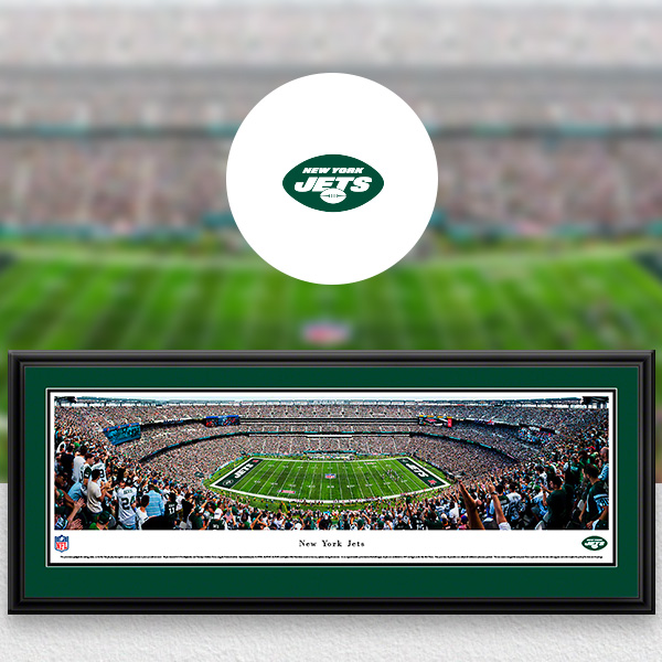New York Jets Panoramic Posters and Fan Cave Decor