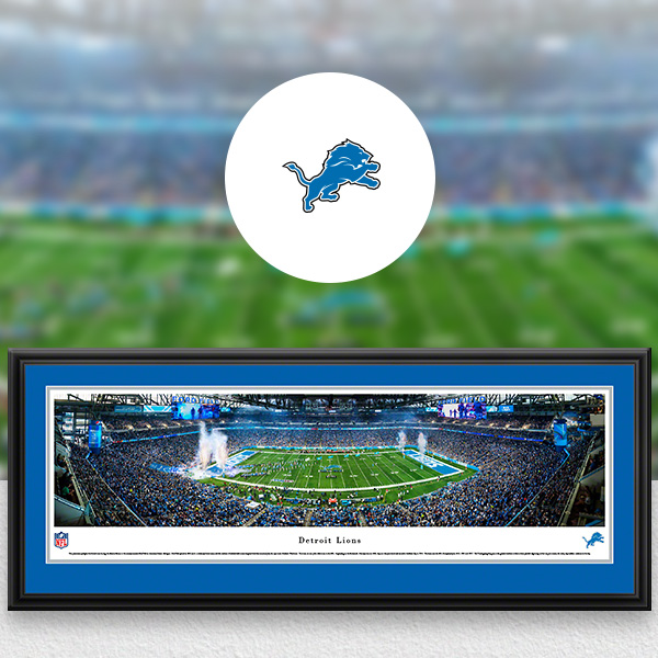Detroit Lions Panoramic Posters and Fan Cave Decor