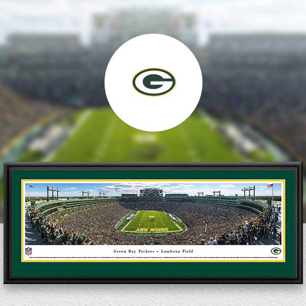 Green Bay Packers Panoramic Posters and Fan Cave Decor