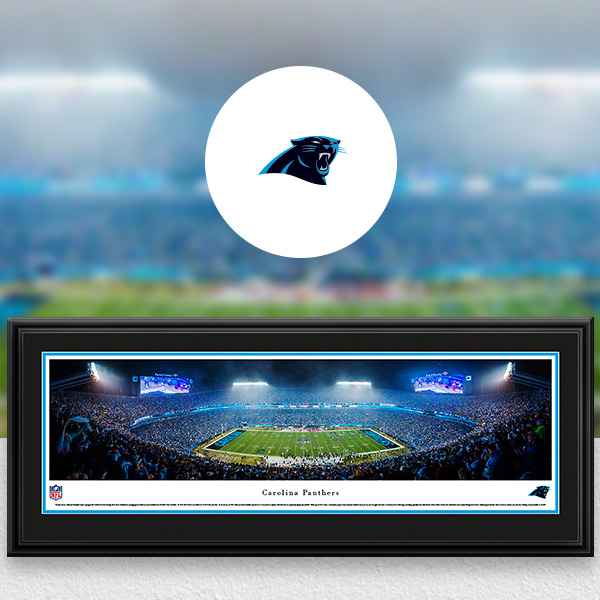 Carolina Panthers Panoramic Posters and Fan Cave Decor