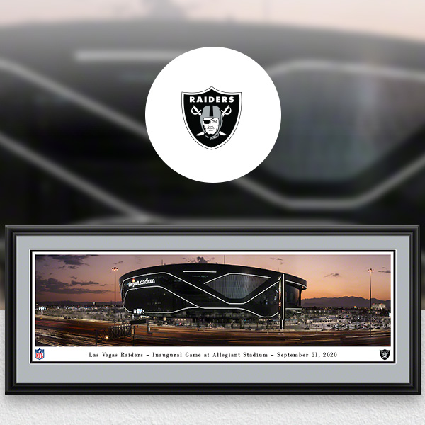 Las Vegas Raiders Panoramic Posters and Fan Cave Decor